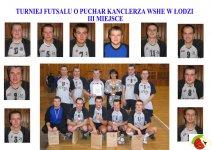 III Miejsce w Turnieju  Futsalu o Pucharze Kanclerza WSHE w Łodzi